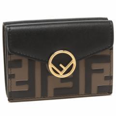 フェンディ 折財布 レディース FENDI 8M0395 A659 F13VK ブラウン ブラック