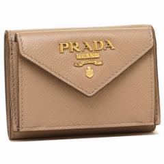 プラダ 折財布 レディース PRADA 1MH021 QWA F0236 ベージュ