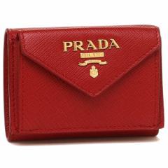 プラダ 折財布 レディース PRADA 1MH021 QWA F068Z レッド