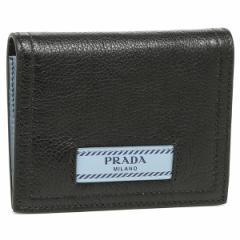 プラダ 折財布 れディース PRADA 1MV204 2BMU F0OK0 ブラック ライトブルー