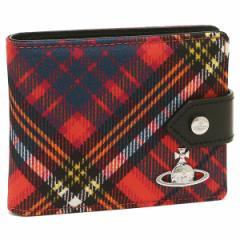 ヴィヴィアンウエストウッド 折財布 レディース VIVIENNE WESTWOOD 51090001 00581 O401 レッド マルチカラー