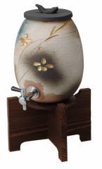 信楽焼 陶器 焼酎、 焼酎サーバー、信楽焼焼酎サーバー,陶器サーバー,焼酎が美味しくなる焼酎サーバ−金彩花彫サーバー 2.2L