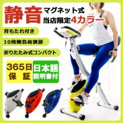 ダイエット 室内運動 エアロバイク XR-bike フィットネスバイク 折りたたみ 背もたれ付き マグネット式エアロバイク ダイ