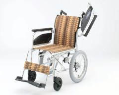 ●アルミ介助式車椅子 NAH-446U アームレスト跳ね上げ 日進医療器