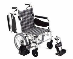 車椅子 軽量 折り畳み アルミ介助式車椅子 AWSC-3 ミキ 車いす 車イス 介助用 介護用品