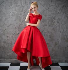 豪華 不規則裾 パーティードレス ロングドレス 前短後ろ長 優雅 フォーマルドレス フェミニン お呼ばれドレス ピアノ 宴会 発