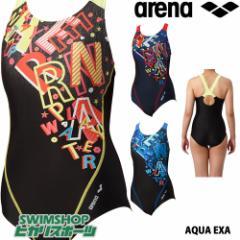 アリーナ ARENA フィットネス水着 レディース サークルバック ぴったりパッド 着やストラップ ダブルエステルWR LAR-