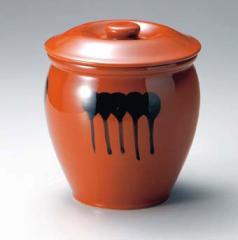蓋付半胴瓶 4号 漬け物 カメ ぬか漬け 梅干し 漬け物用 浅漬け 和食器 容器 亀 陶器 瓶