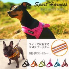 犬 ハーネス 胴輪 ソフトパッド 簡単装着 快適 スポーツハーネス メール便送料無料