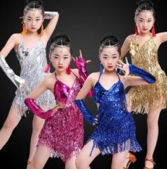 ラテンダンス 韓国子供服 ダンス 女の子用 ジュニア キッズ 子供用 女の子 可愛い 演出服 お嬢様 フリンジ キラキラ服