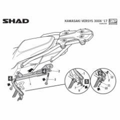 K0VR37IF 3Pシステム フィッティングキット VERSYS-X 300(17) SHAD(シャッド) 1セット 品番:1