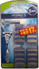 【追跡付メール便送料無料】Schick(シック)HYDRO5(ハイドロ5) 5枚刃 ホルダー1本+プラス 替刃17個入 髭剃り