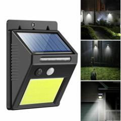 ■送料無料■屋外 防水 自動点灯 LED COB 48灯  人感 センサー ライト ソーラー 防犯 玄関灯 セキュリティ ガーデ