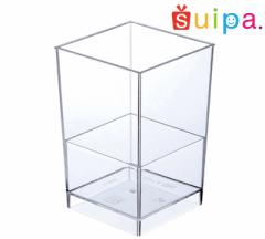■【送料無料】デザートカップ ゼリーカップ スイーツカップ デザート容器 プラスチック 透明 192cc 日本製 四角 PSアン