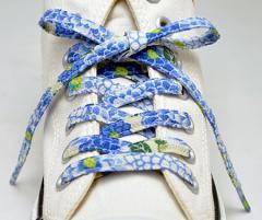 メール便 和柄靴ひも 柄多数ちりめん靴紐ノーマル おしゃれなメンズレディーススニーカーくつひも クツヒモ 日本製シューレース(色
