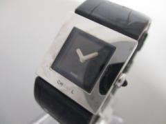 シャネル CHANEL 腕時計 マトラッセ - レディース 革ベルト/型押し加工 黒【中古】
