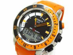 ティソ TISSOT 腕時計 SEA-TOUCH EN13319 メンズ ラバーベルト 黒【中古】