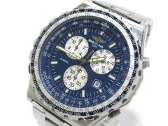 ブライトリング BREITLING 腕時計 ジュピターパイロット A59028 メンズ クロノグラフ/回転ベゼル ネイビー【中古】