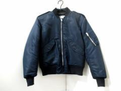 サンローランパリ SAINT LAURENT PARIS ブルゾン F36 レディース 美品 ボンバージャケット ネイビー 冬物/MA-1【中古】