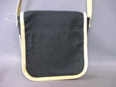 イチザワハンプ 一澤帆布 ショルダーバッグ 黒×ベージュ キャンバス【中古】