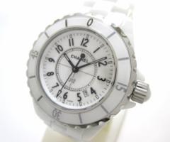 シャネル CHANEL 腕時計 J12 H0968 レディース 33mm/ホワイトセラミック 白【中古】