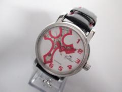 ガルーチ GALLUCCI 腕時計 美品 - メンズ 型押し加工革ベルト/裏スケ/クロス シルバー【中古】