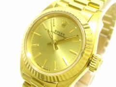 ロレックス ROLEX 腕時計 オイスターパーペチュアル 67198 レディース 金無垢/33コマ ゴールド【中古】