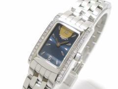 ロンジン LONGINES 腕時計 ドルチェヴィータ L5.158.0 レディース ダイヤベゼル ダークネイビー【中古】
