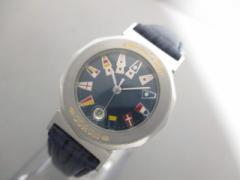 コルム CORUM 腕時計 アドミラルズカップ 39.630.20 レディース 革ベルト ネイビー×マルチ【中古】