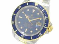 ロレックス ROLEX 腕時計 サブマリーナデイト 16613 メンズ SS×YG/11コマ(1コマ落ち) ブルー【中古】