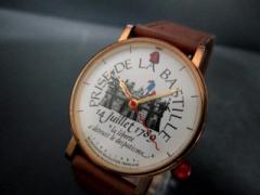 シルベスタイン Alain Silberstein 腕時計 - フランス革命 メンズ 革ベルト 白【中古】