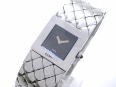 シャネル CHANEL 腕時計 マトラッセ - レディース 黒【中古】