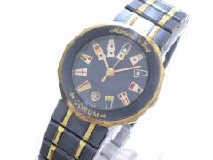 コルム CORUM 腕時計 アドミラルズカップ 39.610.31 V-52 レディース ネイビー×マルチ【中古】