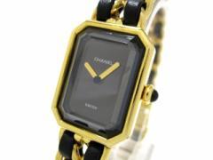 シャネル CHANEL 腕時計 プルミエール H0001 レディース 黒【中古】