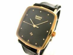 ラドー RADO 腕時計 132.5153.2 メンズ 革ベルト 黒【中古】