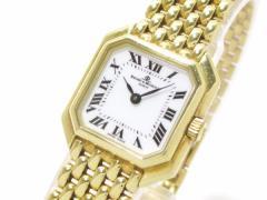 ボーム&メルシエ BAUME&MERCIER 腕時計 スクエアークラシマ MV045237 レディース 金無垢 白【中古】