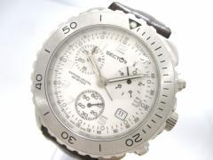 セクター SECTOR 腕時計 - 2651940015 メンズ クロノグラフ/革ベルト 白【中古】