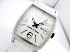 ズッカ ZUCCA 腕時計 美品 - 7N43-0AT0 メンズ 革ベルト/CABANEdeZUCCA アイボリー【中古】