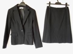 ナチュラルビューティー ベーシック NATURAL BEAUTY BASIC スカートスーツ S レディース 黒 ストライプ【中古】