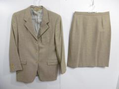 ポールスチュアート PaulStuart スカートスーツ レディース 美品 ベージュ カシミヤ混【中古】