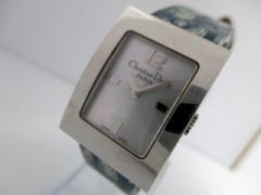 ディオール ChristianDior 腕時計 マリススクエア D78-109 レディース シェル文字盤/革ベルト シェルホワイト【中古】