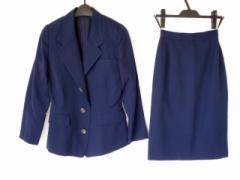 コーガマリコ MARIKO KOHGA スカートスーツ レディース 美品 ネイビー 肩パッド【中古】