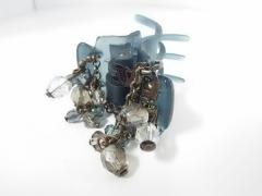 コンプレックスビズ ComplexBIZ アクセサリー 美品 プラスチック×金属素材 ネイビー×ゴールド×クリア ヘアクリップ/ビーズ【中古】