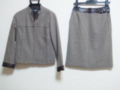 ソニアリキエル SONIARYKIEL スカートスーツ 38 レディース ベージュ×ダークブラウン【中古】