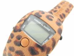 ズッカ ZUCCA 腕時計 W240-4120 レディース ラバーベルト/豹柄 ダークグリーン【中古】