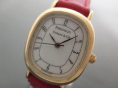 ティファニー TIFFANY&Co. 腕時計 ポートフォリオ - レディース 革ベルト 白【中古】