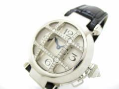 カルティエ 腕時計 パシャ32グリッドダイヤ WJ11932G レディース K18WG×クロコベルト/ドーム型グリッドダイヤ シルバー【中古】