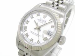 ロレックス ROLEX 腕時計 デイトジャスト 79174 レディース K18WG×SS/18コマ+余り3コマ(フルコマ)/ビッグローマ 白【中古】