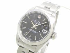 ロレックス ROLEX 腕時計 オイスターパーペチュアルデイト 79160 レディース SS/11コマ+余り2コマ(フルコマ)/要OH 黒【中古】