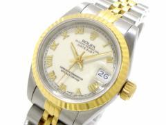 ロレックス ROLEX 腕時計 デイトジャスト 69173 レディース 19コマ+余り2コマ(フルコマ)/ホワイトローマン アイボリー【中古】
